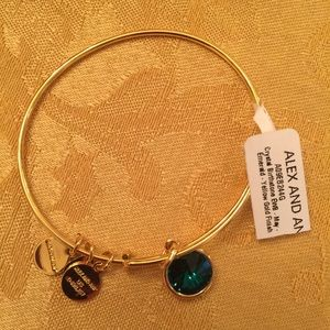 Alex and Ani emerald gold bracelet NWT MAY